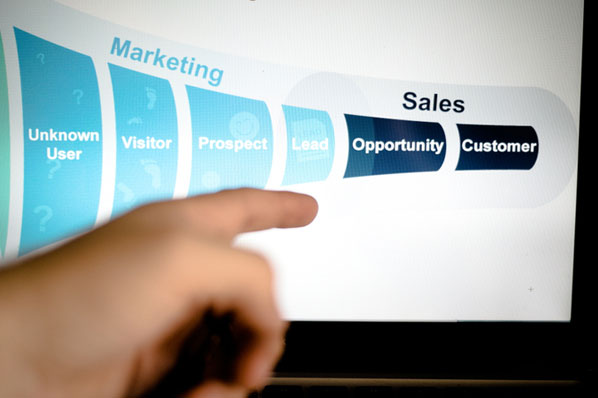 A funnel marketing social community manager plans a strategy around the company's funnel.