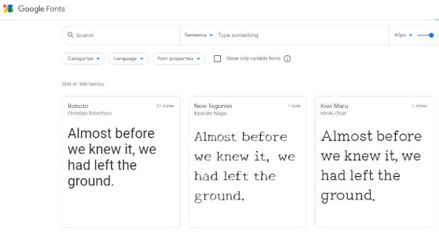 google fonts as a design tool for free font options
