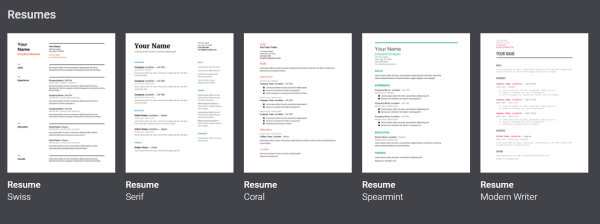 google-resume-templates