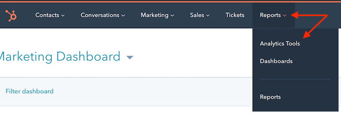 hubspot-reports-dropdown