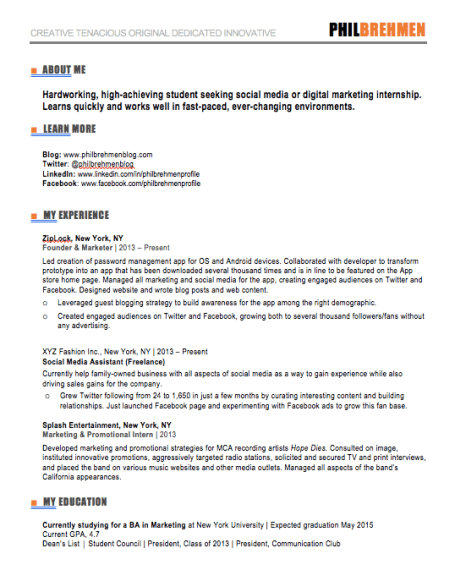 Inbound marketing template for interns and marketers