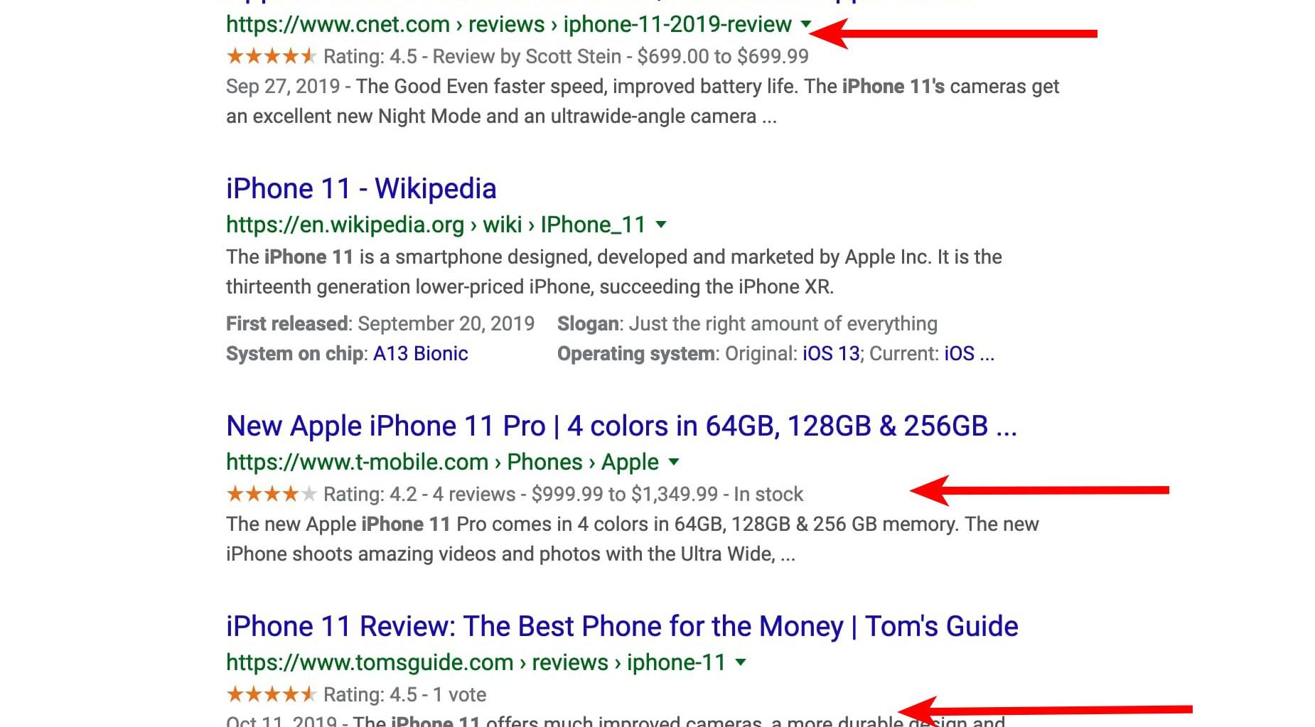 iPhone 11 sử dụng Schema Markup