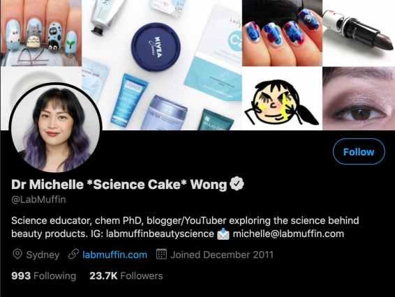 labmuffin twitter profile bio example