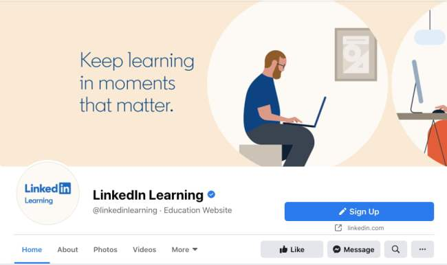 LinkedIn Learning Facebook cover photo