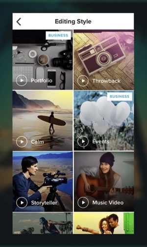 Magisto video editing app for Instagram