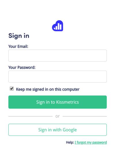 mobile website design: kissmetrics contact form