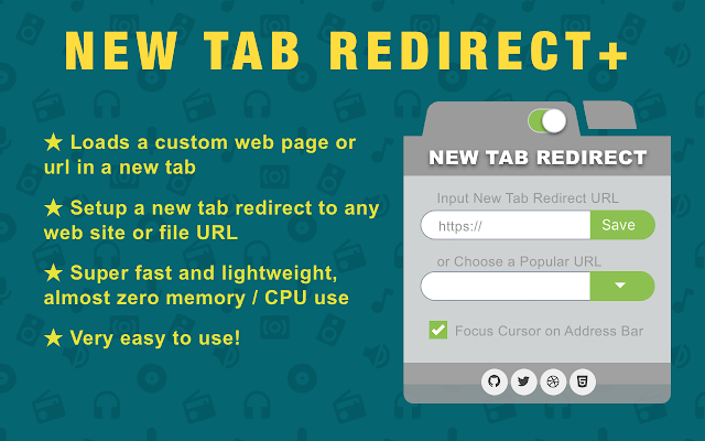 new-tab-url-redirect