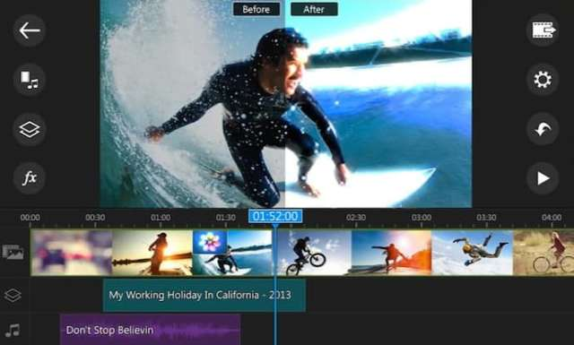 PowerDirector app for editing videos on Android, Windows, and macOS