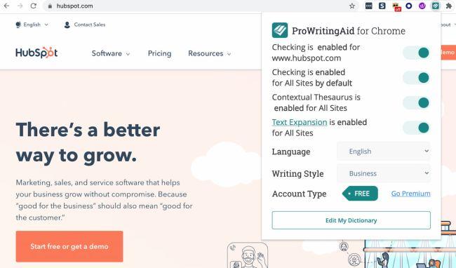 ProWritingAid Chrome extension