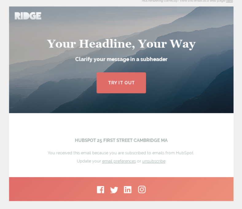 What this email template does: 23 Of The Best Email Newsletter Templates And Resources To Download Right Now