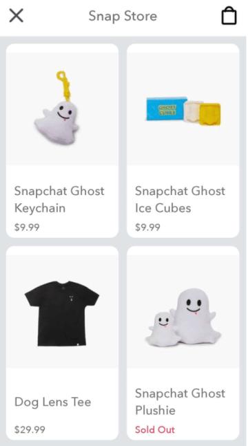 snapchat merchandise store