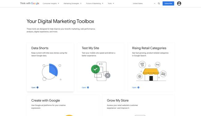 Think with Google market research tools