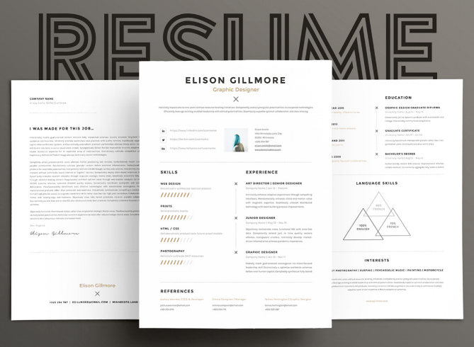 Bon 15 Eye Catching Resume Templates That Will Get You Noticed