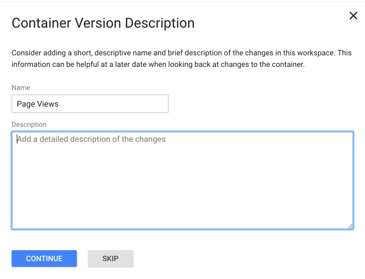 Add a name and description to your Google Tag Manager Tags