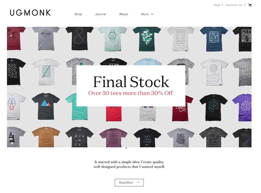 UgMonk Shopify store  16 of the Best Shopify Stores to Inspire Your Own ugmonk