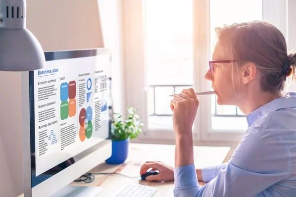 marketer writing a business plan