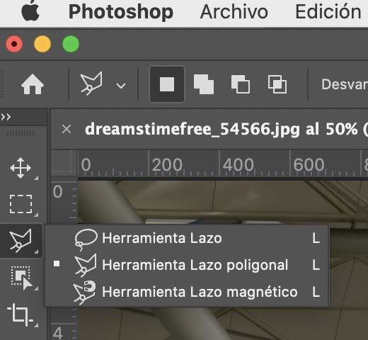 Quitar el fondo de una imagen con lazo poligonal de Photoshop
