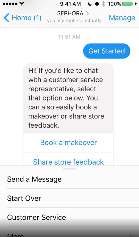 Chatbot de Sephora