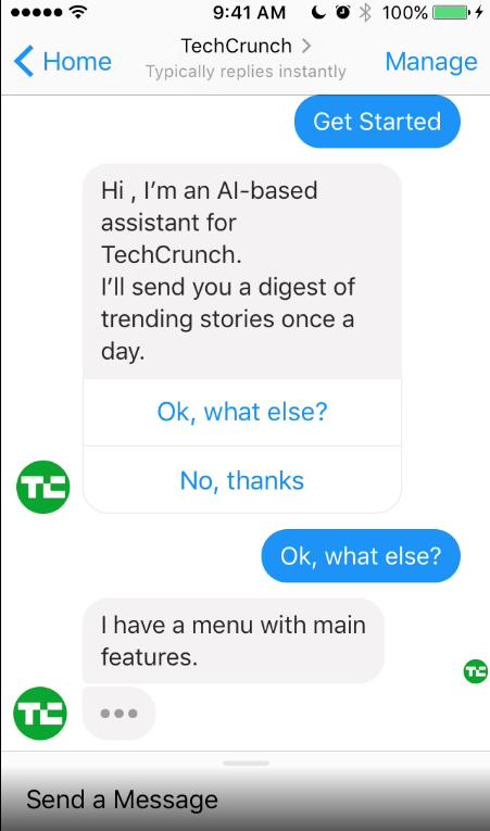 Chatbot de TechCrunch