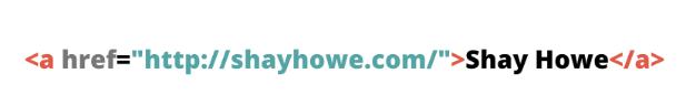 Cómo editar una página web: atributos href