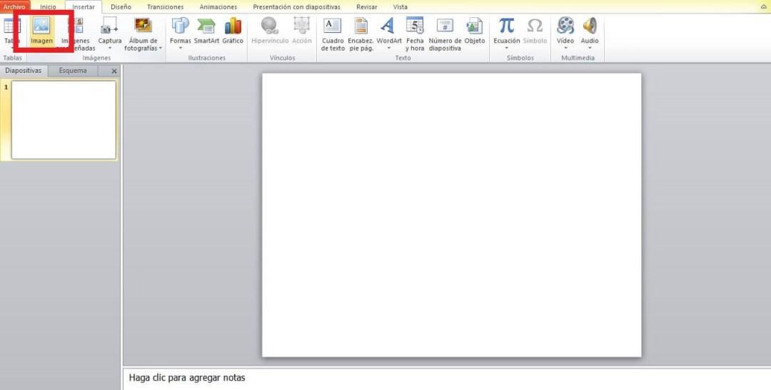 Añadir imagen en PowerPoint para quitar el fondo