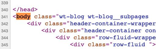 Etiqueta de HTML body
