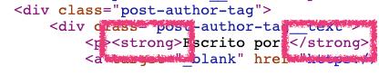 Etiqueta de HTML para negrita