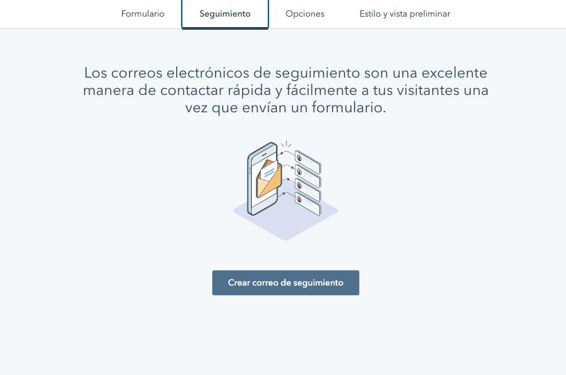 Seguimiento para el formulario de página de contacto en la herramienta de HubSpot