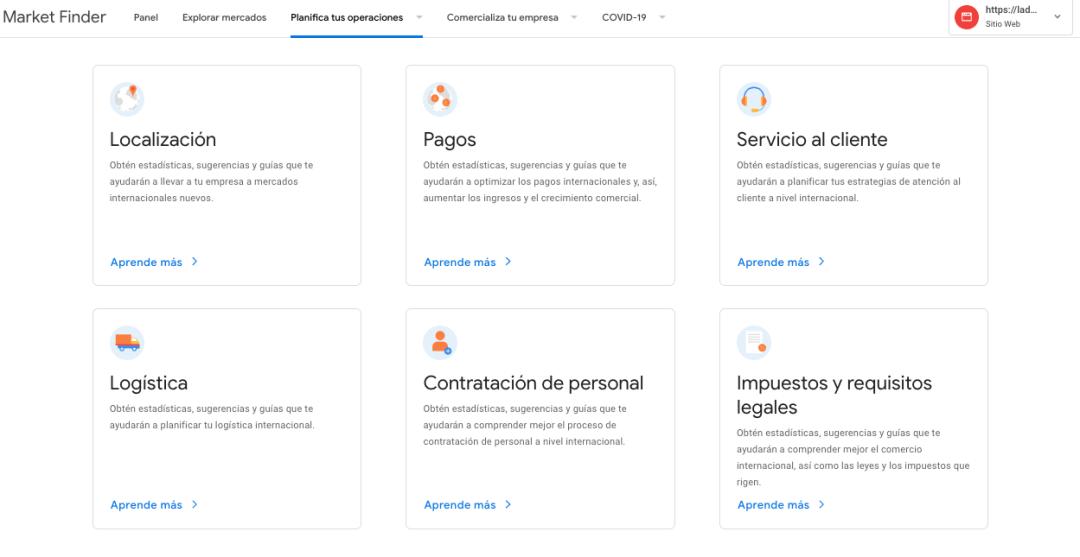 Planifica tus operaciones en Google Market Finder