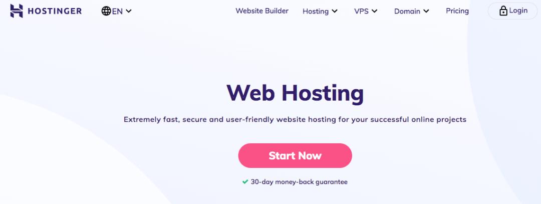 Hostinger, sitio de alojamiento web