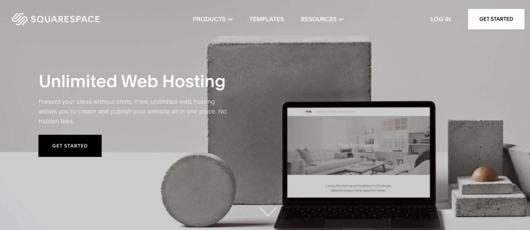 Squarespace, sitio de hosting