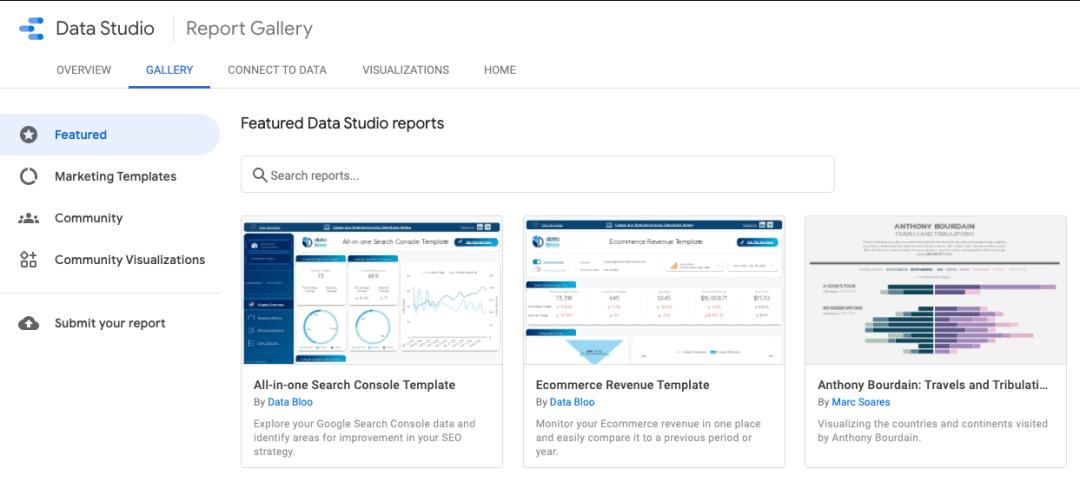 Plantillas de Google Data Studio