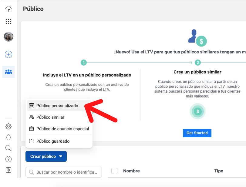 Audiencias personalizadas para retargeting en Facebook