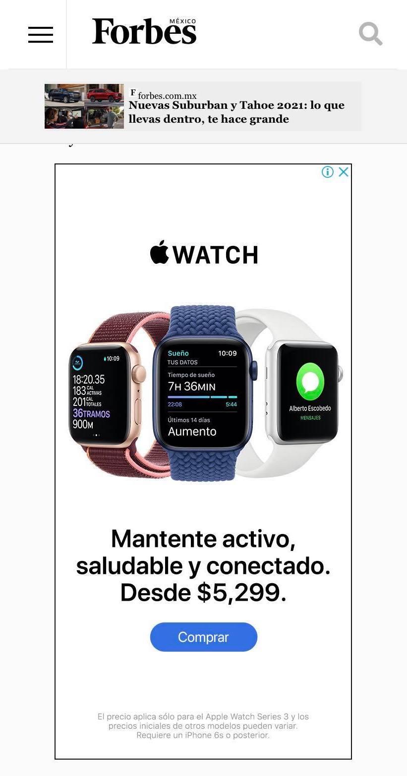 Ejemplo de banner mobile-friendly
