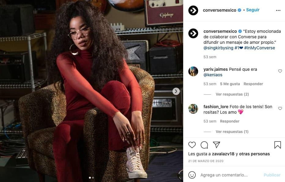 Ejemplo del uso de hashtags para una publicación de Instagram