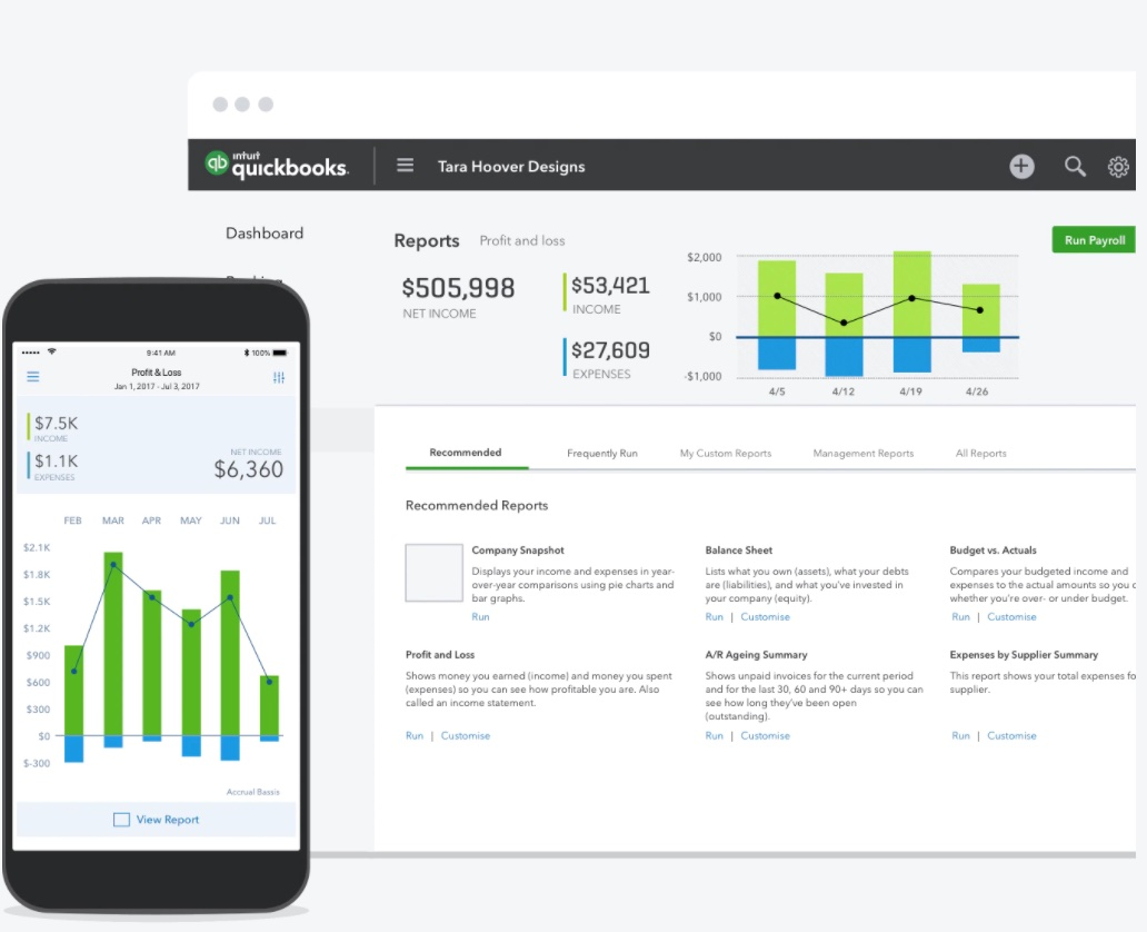 Herramienta de automatización de ecommerce: Quickbooks