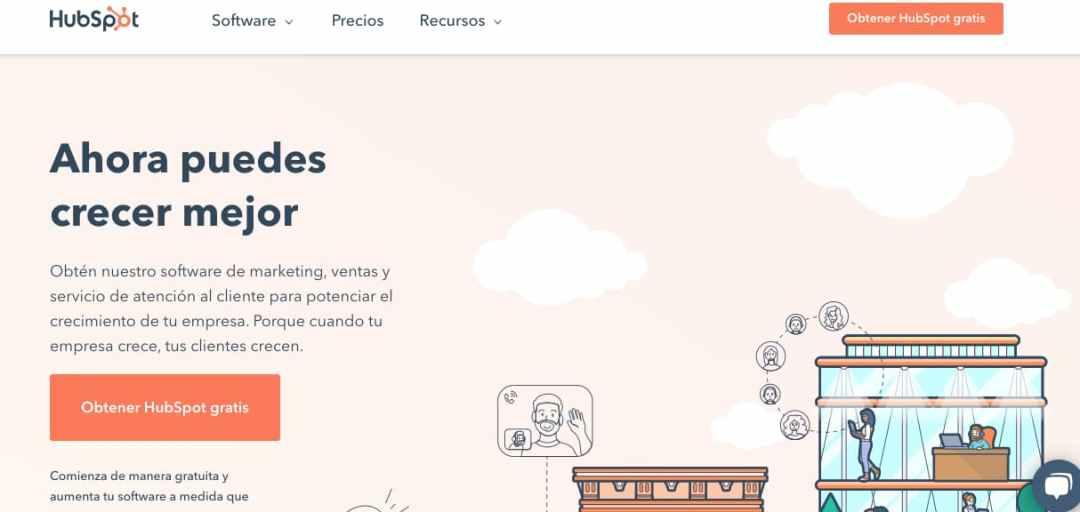 Software de inbound marketing de HubSpot