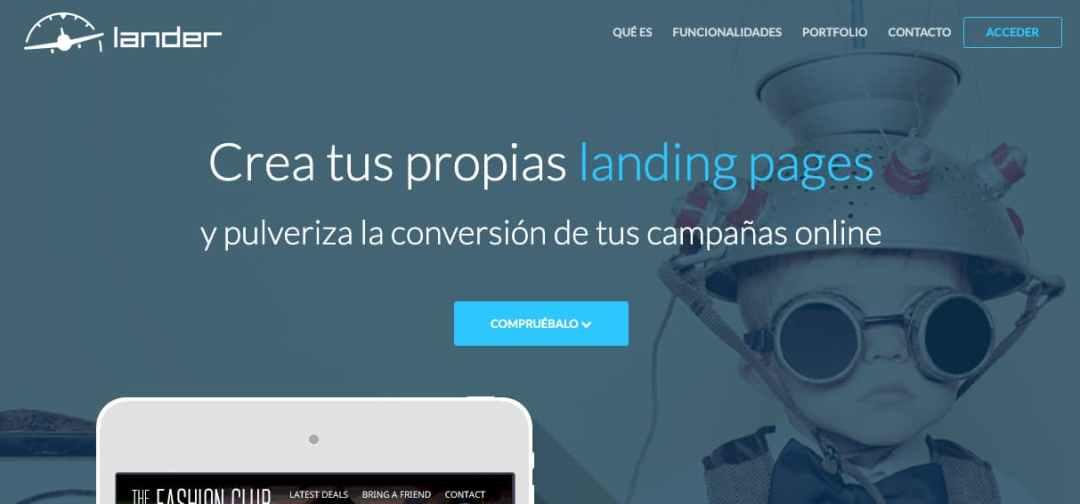 Creador de páginas destino Lander para inbound marketing