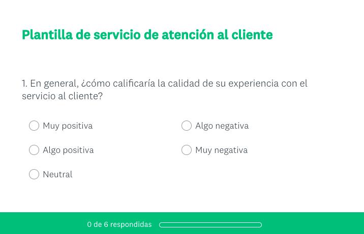 Tipos de formularios de contacto: formulario de encuesta de Survey Monkey