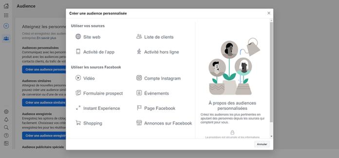 Facebook retargeting campaign creation