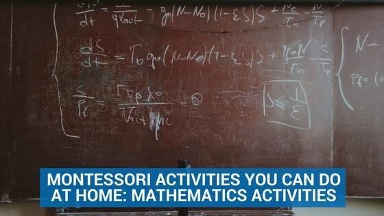 Montessori Activities You Can Do at Home- Mathematics Activities