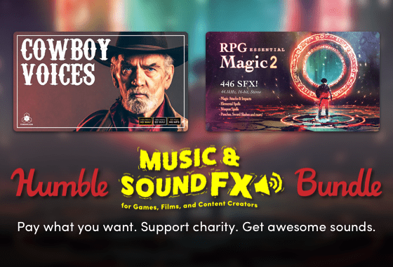 Humble Sound Effects and Music for Games, Films, and Content Creators Bundle