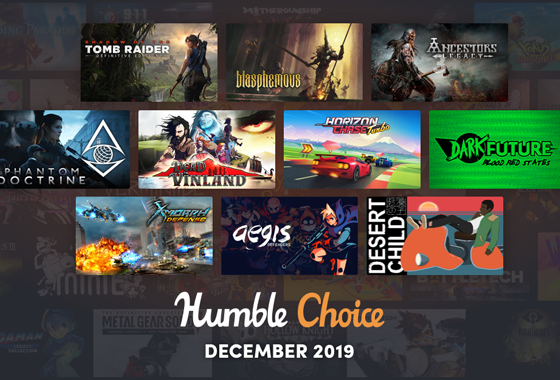 December 2019 Humble Choice image featuring 10 games