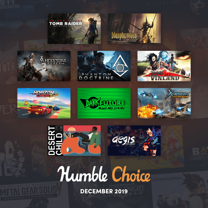 December 2019 Humble Choice game selection
