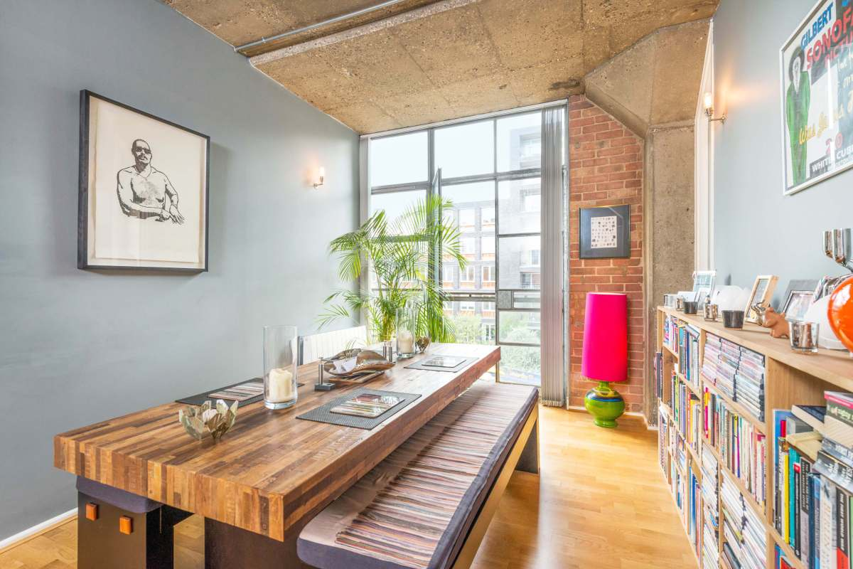 Authentic 2 Bedroom Loft Apartment with Views over Regent's Canal on Wenlock Road, N1
