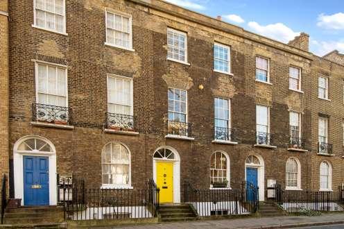 Rare Georgian Grade II listed house on Wren Street, Bloomsbury