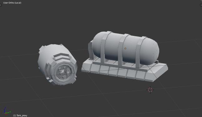 Kitbashing Spaceship : Powercell Samples