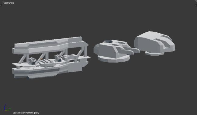 Kitbashing Spaceship : Weapon Kitbash Samples