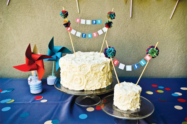 Diy Birthday Cake Toppers Banner Day
