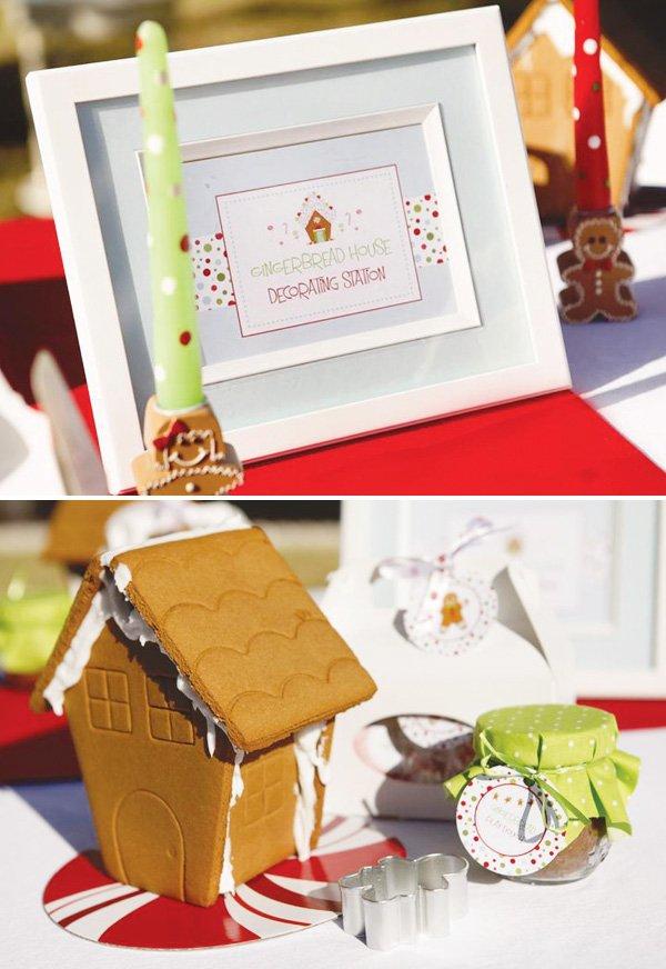 Gingerbread House Decorating Party Full Of Cute Ideas Via Kara 39 S Karaspartyideas Com